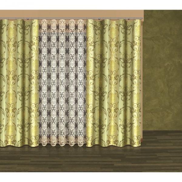 Комплект штор: тюль (250x500 см)+шторы (250x160 см)x2, белый (203530/250)