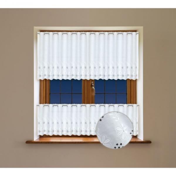 Комплект гардин (60x300 см) + (45x300 см), белый (203390)