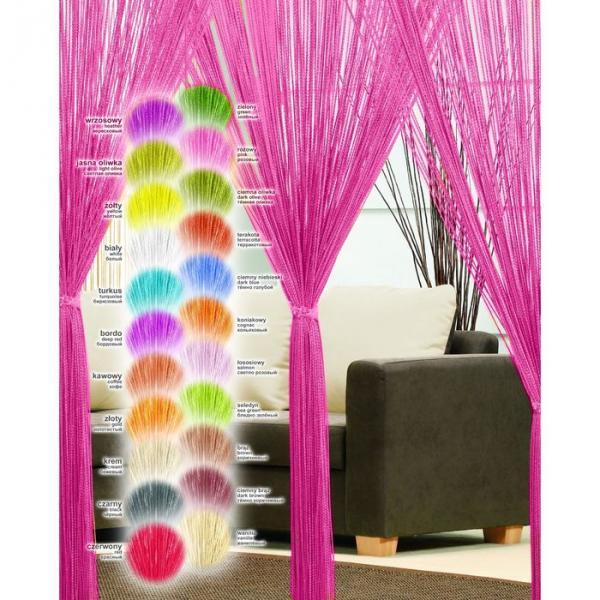 Гардина-лапша (250x90 см), розовый (46990/90)