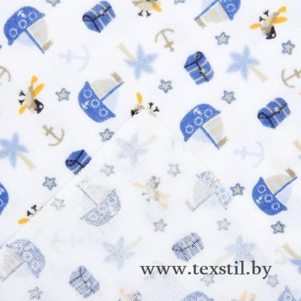 Фото Текстиль, Текстиль для новорожденных, Пелёнки и европелёнки, Пелёнки Пелёнка детская  Попугай Пират 75*120 см, фланель,160 г/м2,100% хлопок