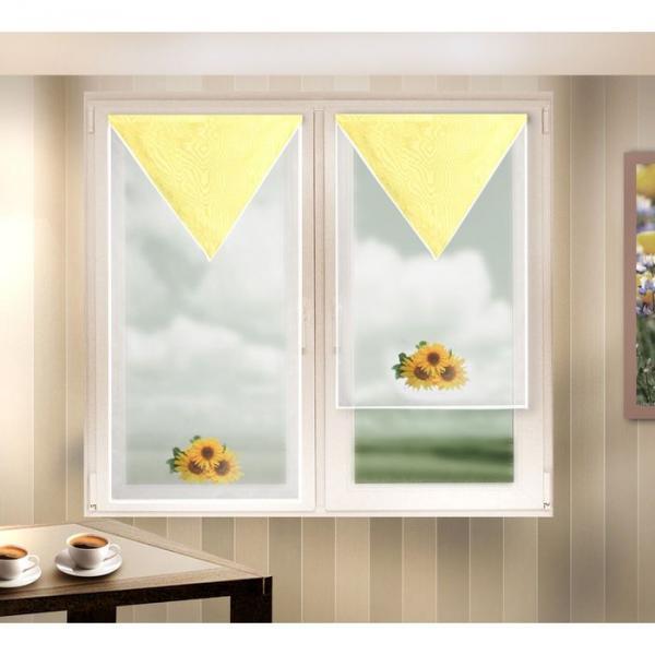 Комплект штор: (120x60 см)+(90x60 см), вуаль (666059-2)