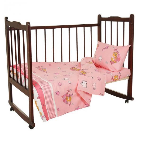 """Комплект постельного белья """"Баю-бай"""", цвет розовый 33372"""