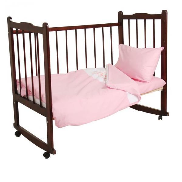 """Комплект постельного белья """"Зайка"""", цвет розовый 33382"""