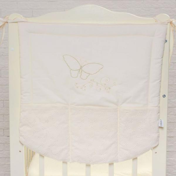 "Карман на кроватку ""Farfalla"", размер  60* 60 см, цвет бежевый 5073"