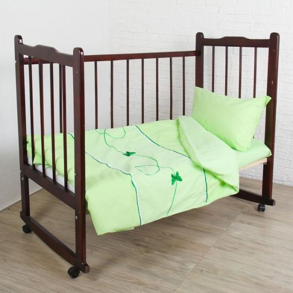 """КПБ """"Бабочки"""" (3 предмета), цвет зелёный 2474"""