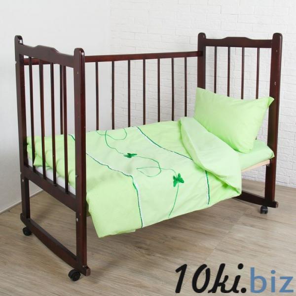"""КПБ """"Бабочки"""" (3 предмета), цвет зелёный 2474 купить в Гродно - Детское постельное белье"""