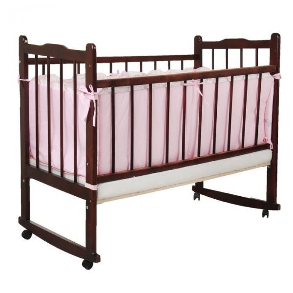 """Бампер в кроватку """"Сладкий сон"""", размер 360*40 см, цвет розовый 4166"""