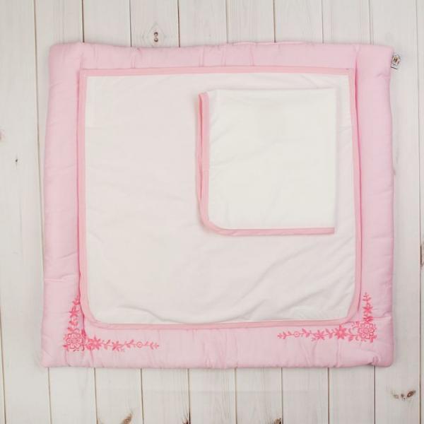 """Комплект """"Три медвежонка"""" (пеленальный матрасик 70*66 см, непромокаемая пелёнка (2 шт.)), цвет розов"""