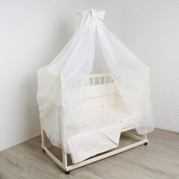 """Комплект в кроватку """"Мишутка на бревнышке"""" (6 предметов), цвет бежевый 1573"""