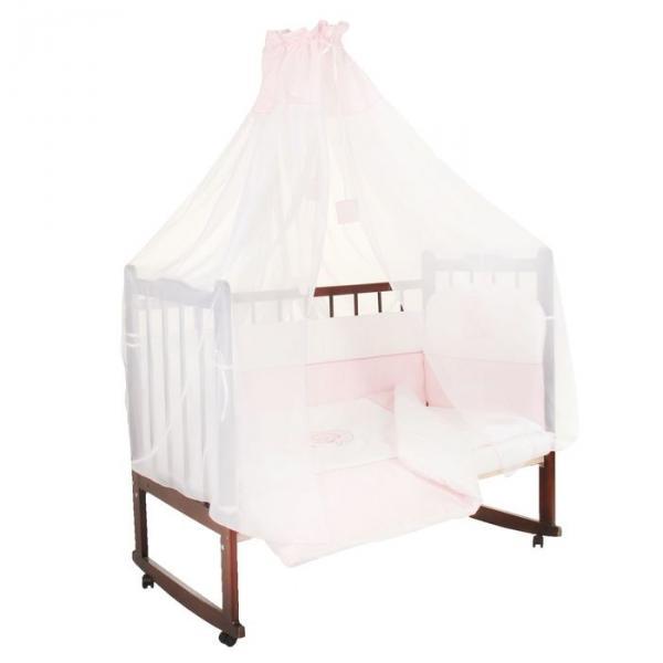 """Комплект в кроватку """"Дельфинчик"""" (7 предметов), цвет розовый 1436"""