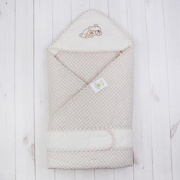 """Одеяло-конверт """"Мими"""", размер 108*108 см, цвет капучино/бежевый 6037"""