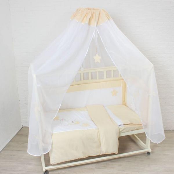 """Комплект в кроватку """"Котик"""" (7 предметов), цвет бежевый 7060Беж"""