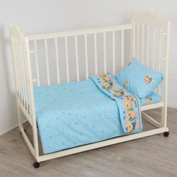 Комплект постельного белья (3 предмета), цвет МИКС 6034