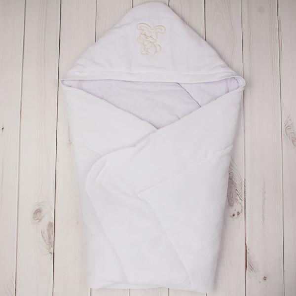 Конверт-одеяло с вышивкой, размер 90*90 см, цвет белый 2157 Бел