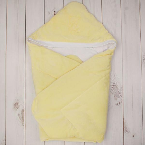 Конверт-одеяло с вышивкой, размер 90*90 см, цвет жёлтый 2157 Желт