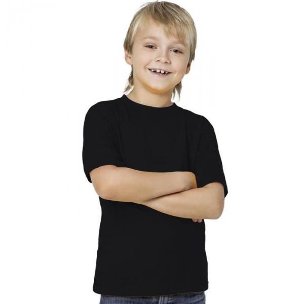 Футболка детская StanKids, рост 128 см, цвет чёрный 150 г/м 06