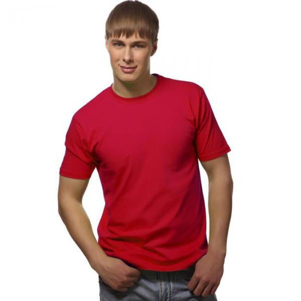 Футболка мужская StanGalant, размер 52, цвет красный 150 г/м 02