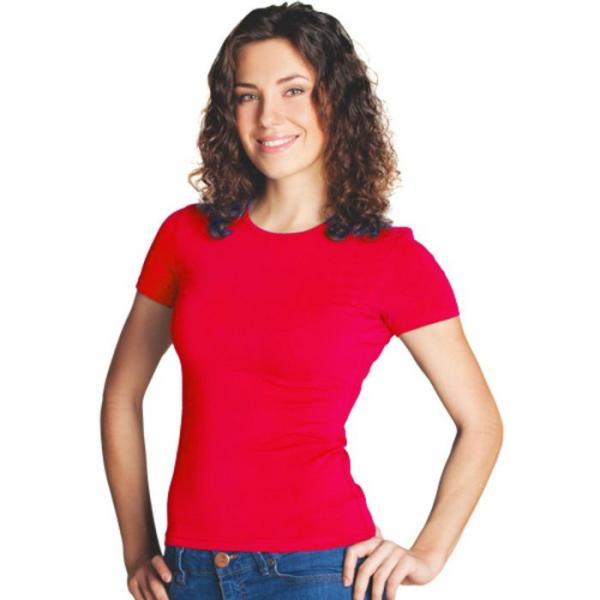 Футболка женская StanSlim, размер 48, цвет красный 180 г/м 37W