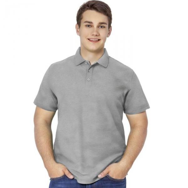 Рубашка-поло мужская StanPremier, размер 52, цвет серый меланж 185 г/м 04