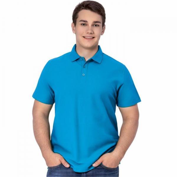 Рубашка-поло мужская StanPremier, размер 44, цвет лазурный 185 г/м 04