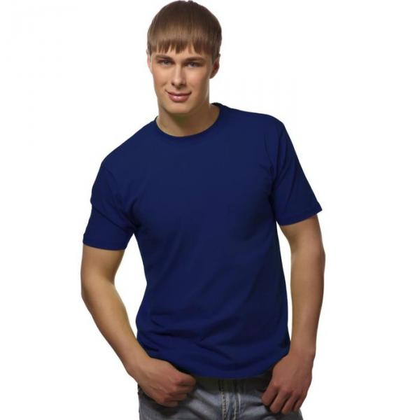 Футболка мужская StanGalant, размер 52, цвет синий 150 г/м 02