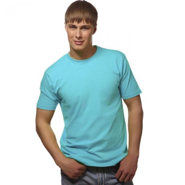 Футболка мужская StanGalant, размер 52, цвет бирюзовый 150 г/м 02