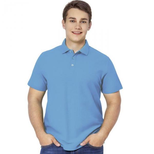 Рубашка-поло мужская StanPremier, размер 56, цвет голубой 185 г/м 04
