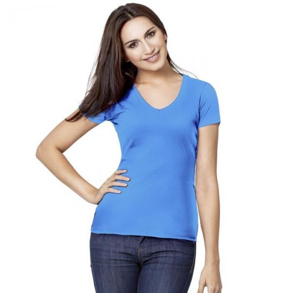 Футболка женская StanVictory, размер 52, цвет голубой 180 г/м 07W