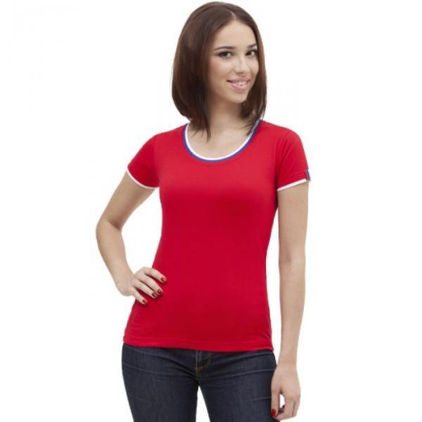 Футболка женская EkaterinaCity, размер 48, цвет красный 180 г/м 14W02