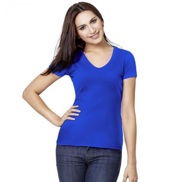 Футболка женская StanVictory, размер 42, цвет синий 180 г/м 07W