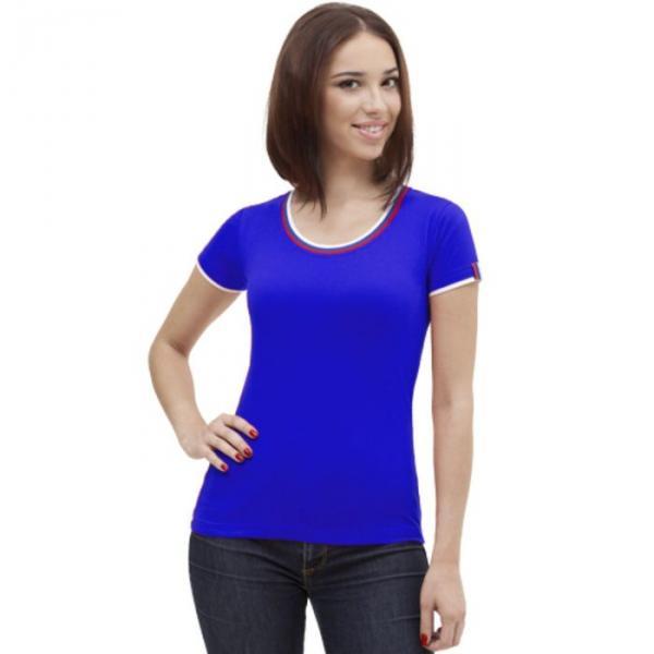 Футболка женская EkaterinaCity, размер 42, цвет синий 180 г/м 14W02