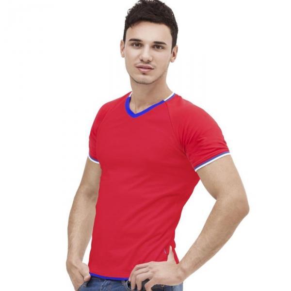 Футболка мужская MoscowStyle, размер 48, цвет красный 200 г/м 14021