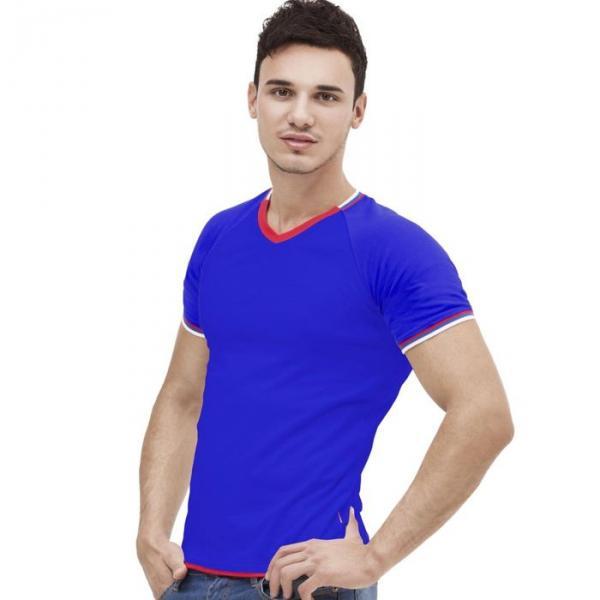 Футболка мужская MoscowStyle, размер 44, цвет синий 200 г/м 14021