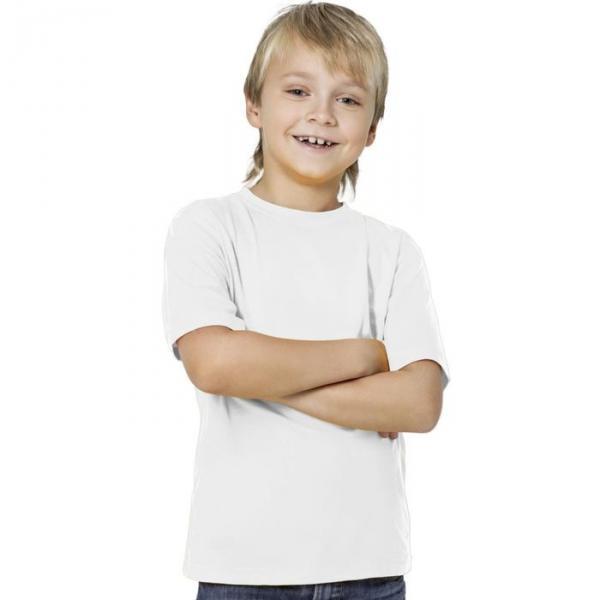 Футболка детская StanKids, рост 140 см, цвет белый 150 г/м 06
