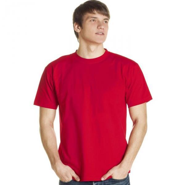 Футболка мужская StanLux, размер 46, цвет красный 180 г/м 08