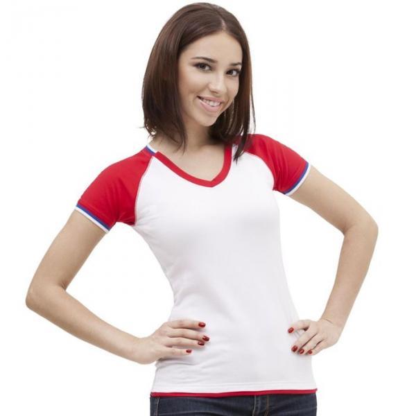 Футболка женская MoscowStyle, размер 42, цвет белый 200 г/м 14W021