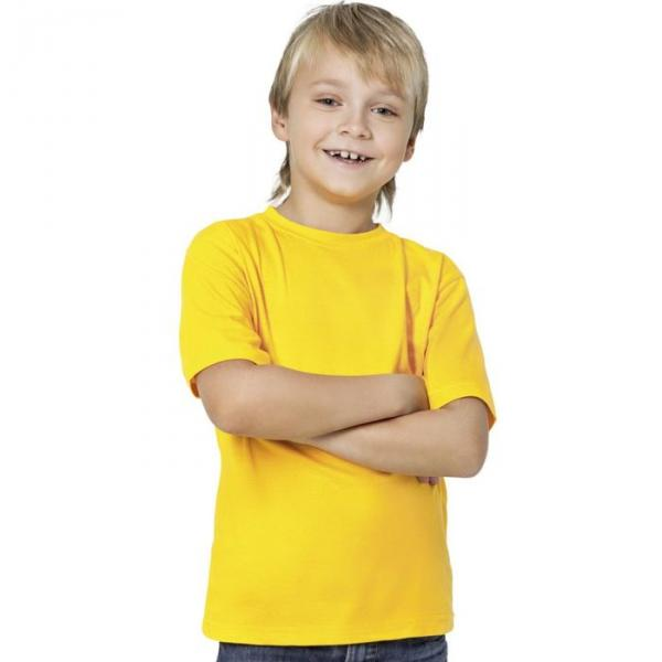 Футболка детская StanKids, рост 128 см, цвет жёлтый 150 г/м 06