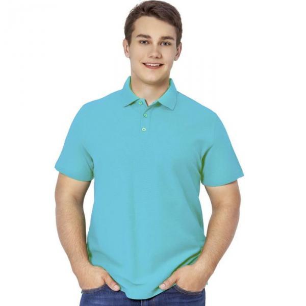 Рубашка-поло мужская StanPremier, размер 52, цвет бирюзовый 185 г/м 04