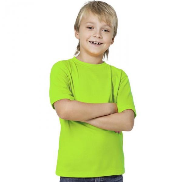 Футболка детская StanKids, рост 116 см, цвет ярко-зелёный 150 г/м 06
