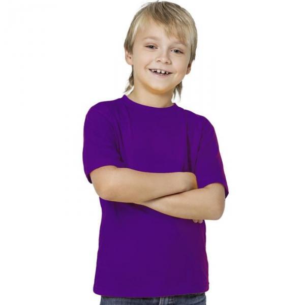 Футболка детская StanKids, рост 116 см, цвет фиолетовый 150 г/м 06