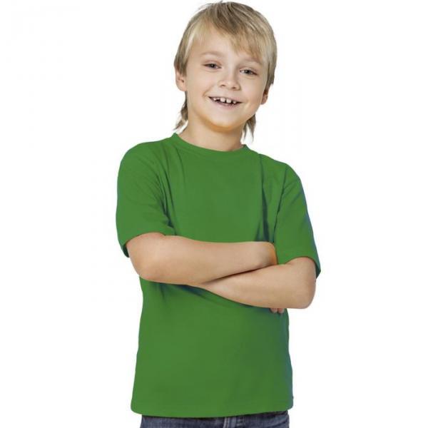 Футболка детская StanKids, рост 128 см, цвет зелёный 150 г/м 06