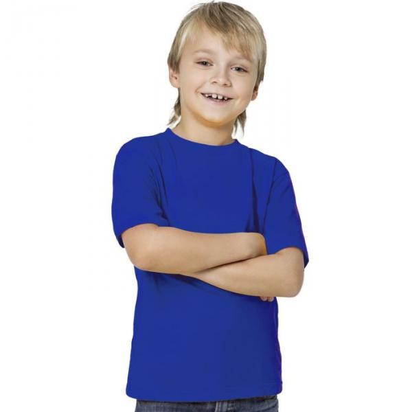 Футболка детская StanKids, рост 128 см, цвет синий 150 г/м 06