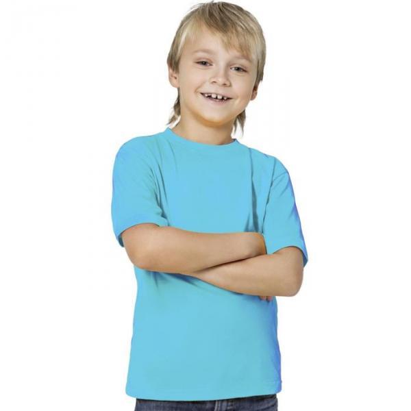 Футболка детская StanKids, рост 128 см, цвет бирюзовый 150 г/м 06
