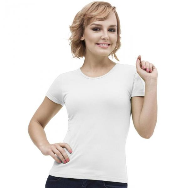 Футболка женская StanGalant, размер 52, цвет белый 150 г/м 02W