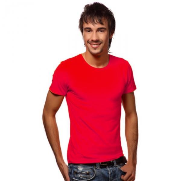 Футболка мужская StanSlim, размер 52, цвет красный 180 г/м 37