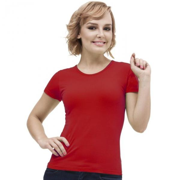 Футболка женская StanGalant, размер 52, цвет красный 150 г/м 02W