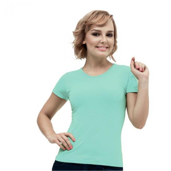 Футболка женская StanGalant, размер 46, цвет мятный 150 г/м 02W