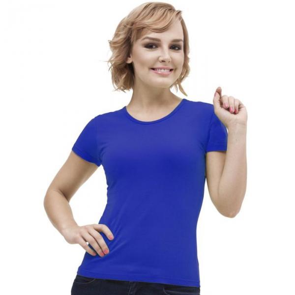 Футболка женская StanGalant, размер 52, цвет синий 150 г/м 02W