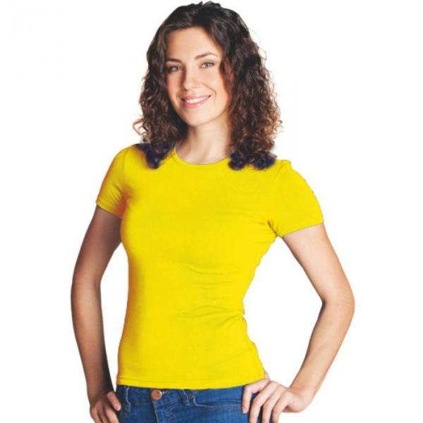 Футболка женская StanSlim, размер 46, цвет жёлтый 180 г/м 37W