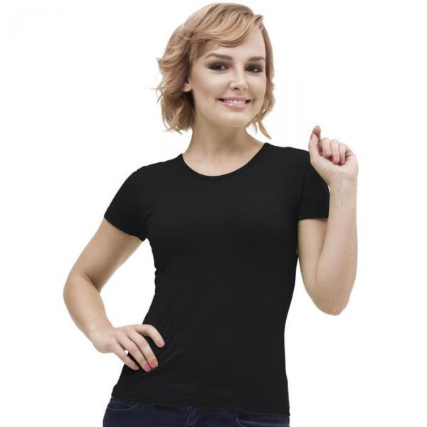 Футболка женская StanGalant, размер 46, цвет чёрный 150 г/м 02W